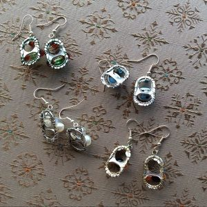 Vintage Jewelry - Pick Your Pair Recycled Coke Top Earrings